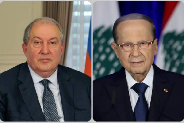 We are ready to provide assistance at this difficult moment, Sarkissian tells Lebanon's Aoun
