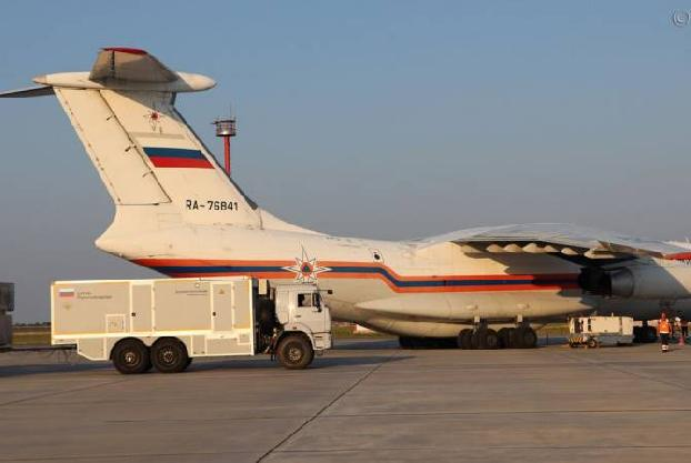 Third Russian plane carrying aid lands in Beirut