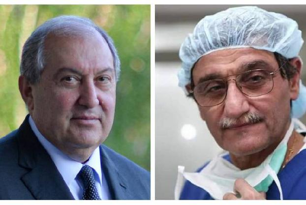 President Sarkissian holds phone talk with National Hero of Armenia, Doctor Hrayr Hovaguimian