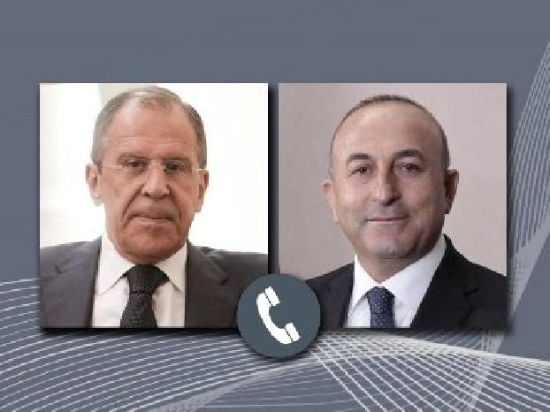 Russian, Turkish FMs discuss situation in Nagorno Karabakh