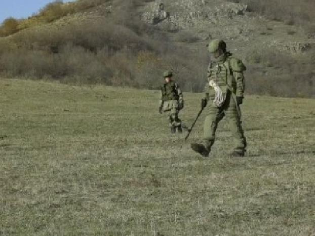 Russia peacekeepers in Artsakh start demining Stepanakert outskirts