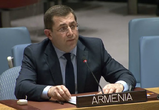 Armenian Ambassador raises the issue of Azerbaijan's systematic violation of international law with UN chief