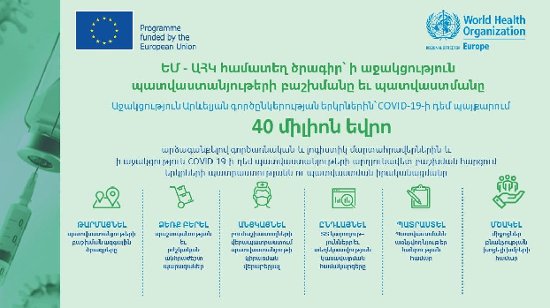 Armenia will receive end-to-end support from WHO to prepare for, deploy and monitor Covid-19 vaccination
