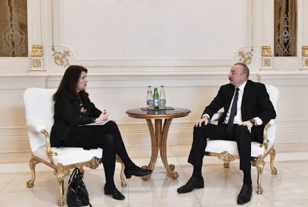 Baku ready to open communications with Yerevan: Aliyev meets OSCE Chair