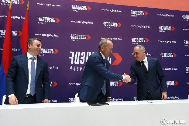 Robert Kocharyan forms alliance with ARF Dashnaktsutyun and Reviving Armenia Party