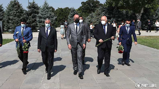 Charles Michel pays tribute to Armenian Genocide victims at Tsitsernakaberd