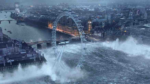 Heavy rains cause flooding in London
